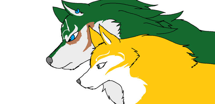 Wolf Link and Wolf Zelda