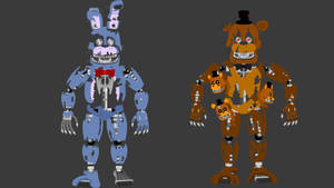 FNAF4  N. Bonnie and N. Freddy by hookls