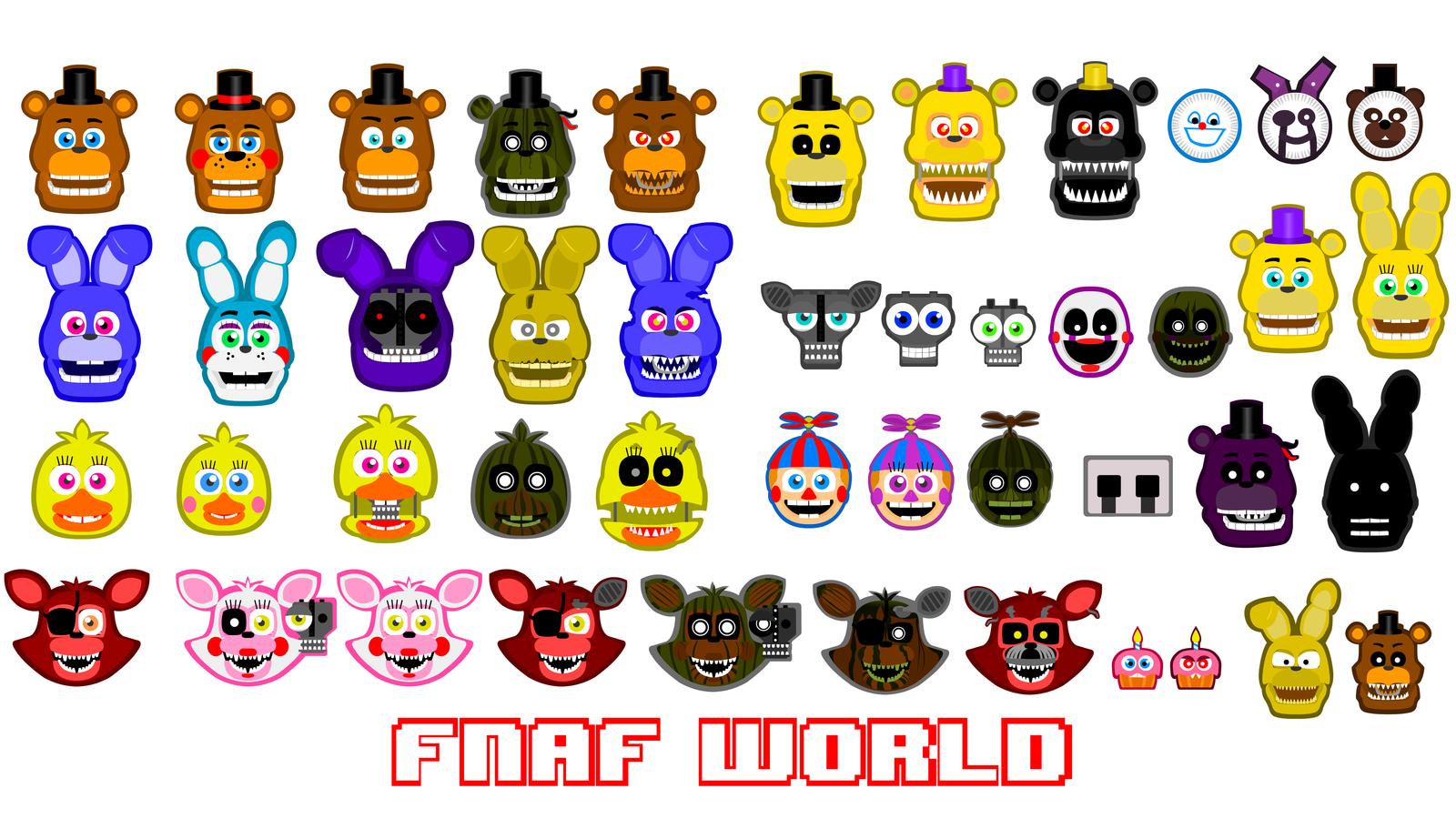 Group of Fnaf World All