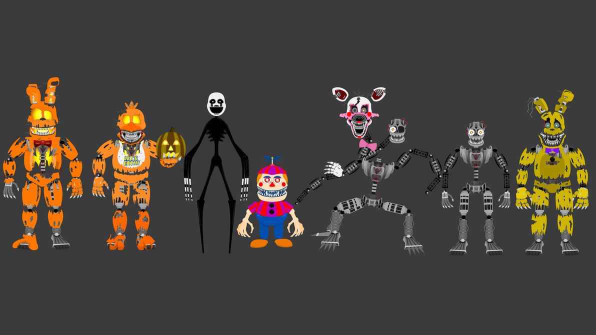 FNAF4 Halloween Edition +... by hookls on DeviantArt