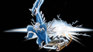 Time travel, Dialga is a DeLorean! by hookls