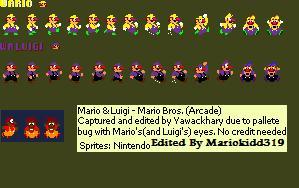 Wario bros Sprites by mariokidd319