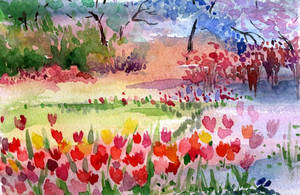 Spring-garden-postcard by Joinerra
