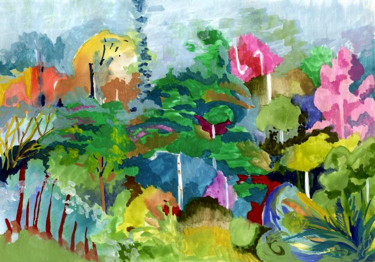 Abstract-landscape-jungles-series