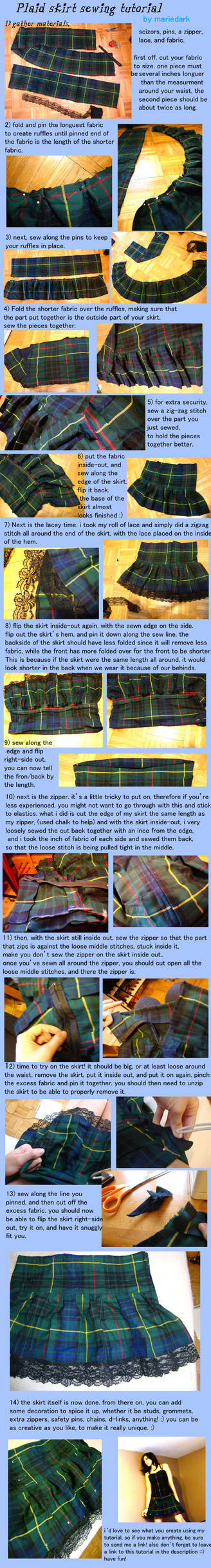plaid skirt sewing tutorial