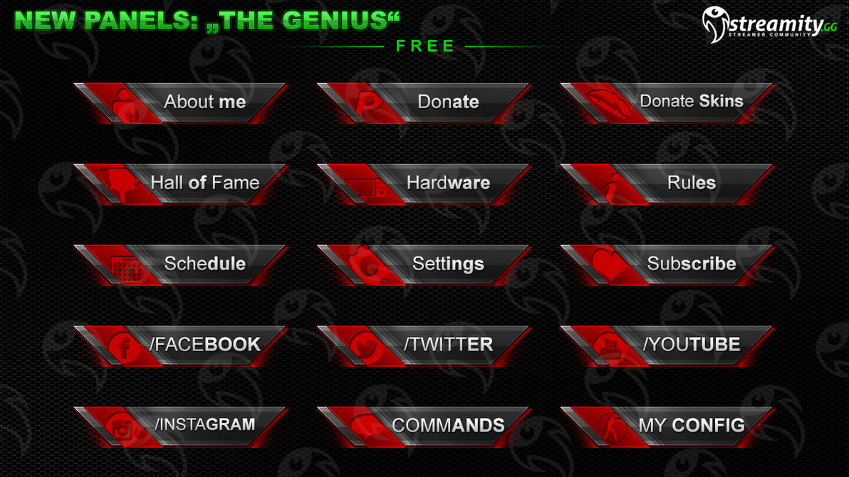 Streamity Gg Panels Package 010 By Streamity On