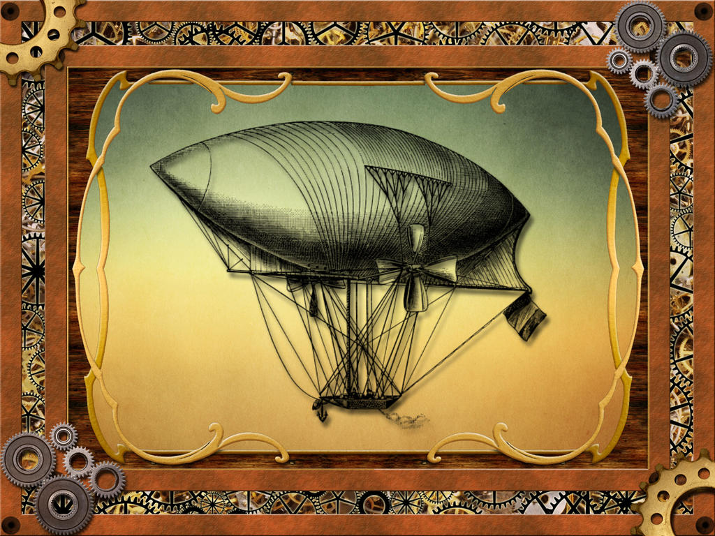 Dirigible and Custom Steampunk Frame by Needs-More-Coffee on DeviantArt