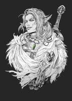 Elven warrior (sketch)