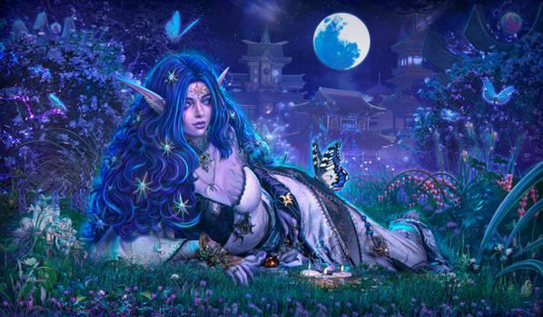 Thyraleth Shadowflame (blue-eyed version)