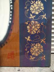 chrysanthemum stencil detail by JWPippen