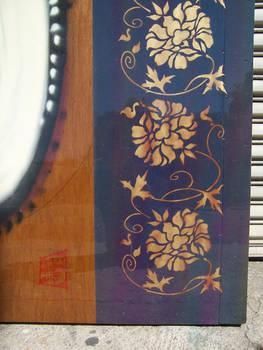 chrysanthemum stencil detail