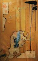 SOLD - Hummingbird and Desert Honeysuckle by JWPippen