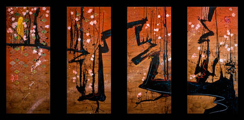 SOLD - Zanka (quadriptych)