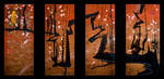 SOLD - Zanka (quadriptych) by JWPippen