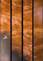 Qilin Ascending - quadriptych by JWPippen