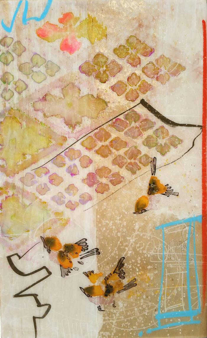 Finch and Kimono Pattern  by JWPippen