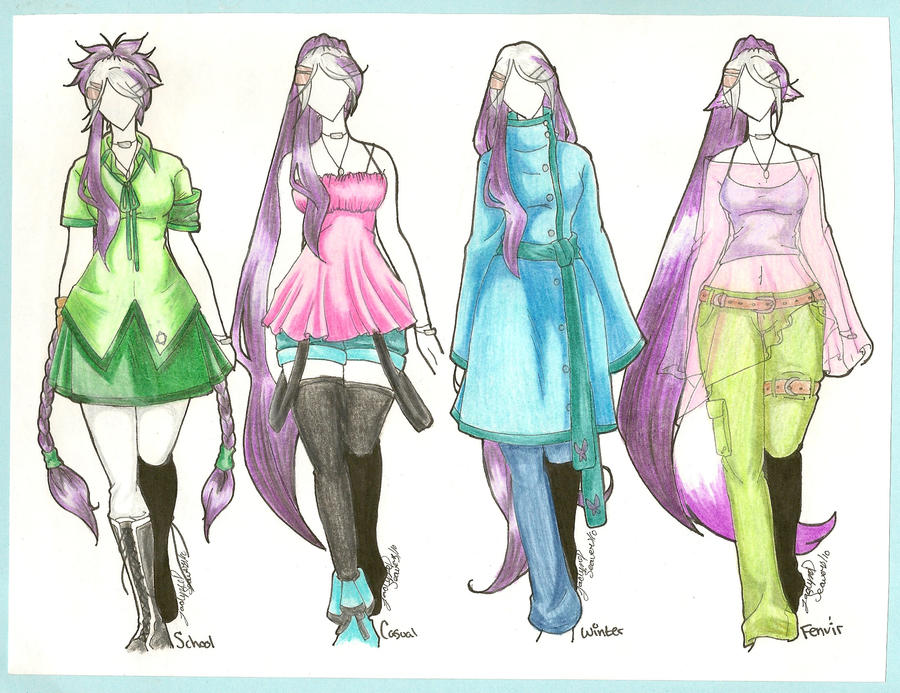 Anime Girl Clothing Designs  HD Wallpaper Gallery