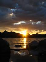 Sunset and Lake by Mammoth-Hunter