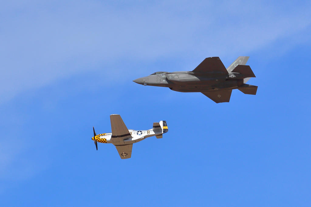 P-51 and F-35 by Mammoth-Hunter