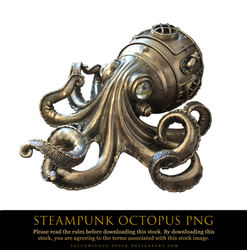 steampunk octopus png