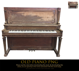 old piano png by yellowicous-stock