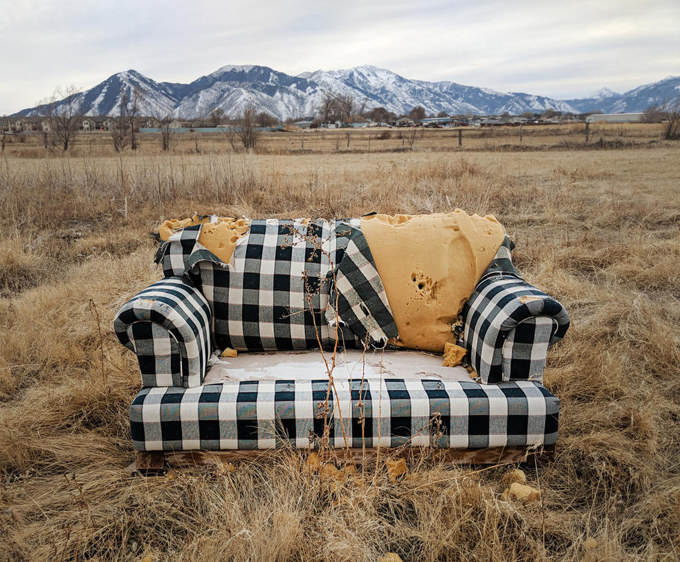abandoned couch 9 by yellowicous-stock