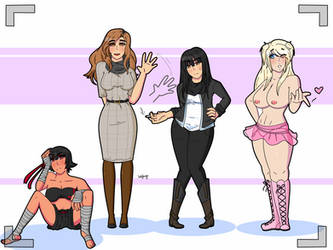 Commission: The Ladies of Les Dix #8 by bellyboys by EVBrock