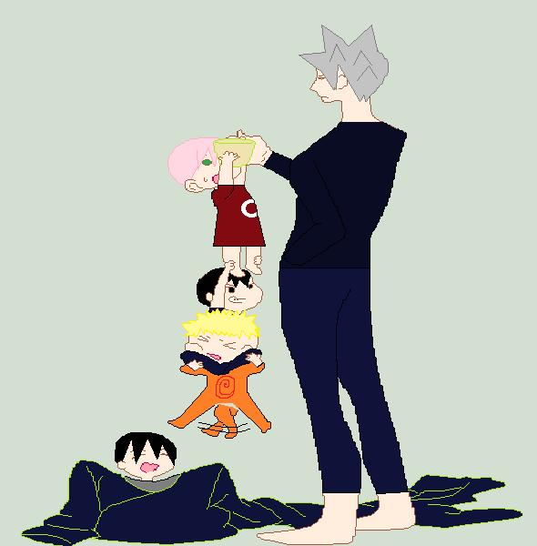 baby sakura,sasuke,naruto,sai, and anoyed Kakashi by ...