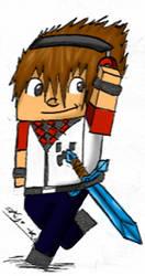 .::Minecraft Char Acartoonada Colored::. by hdfca177