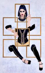 Through The Golden Portrait by BENAFOG