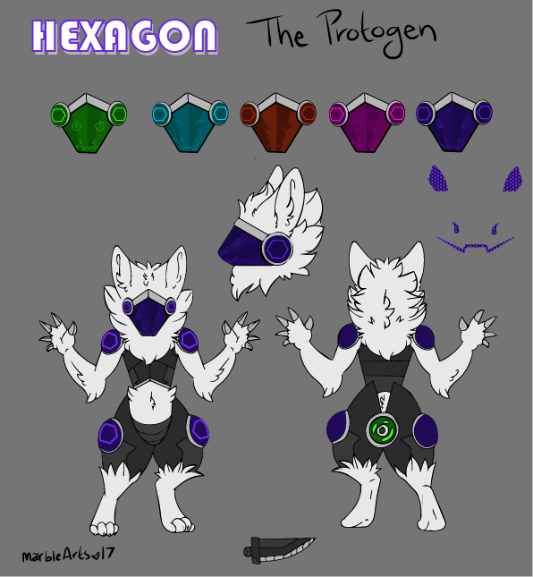 Hexgon the Protogen by the-black-catt