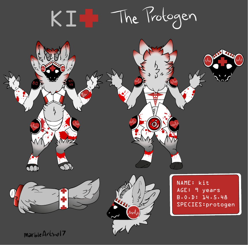 Kit the Uncommon Protogen by the-black-catt