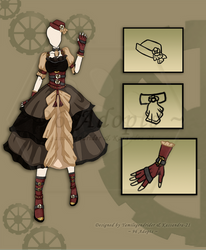Steampunk Outfit #2 (Closed) by 96-Adopts
