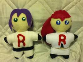 Team Rocket Jesse and James chibi plush by chkimbrough