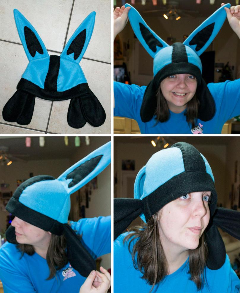 Lucario Fleece Hat by chkimbrough