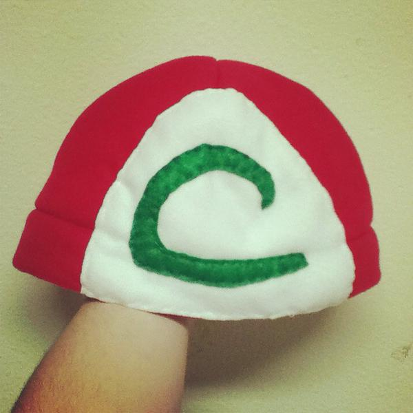 Ash Ketchum inspired beanie hat by chkimbrough