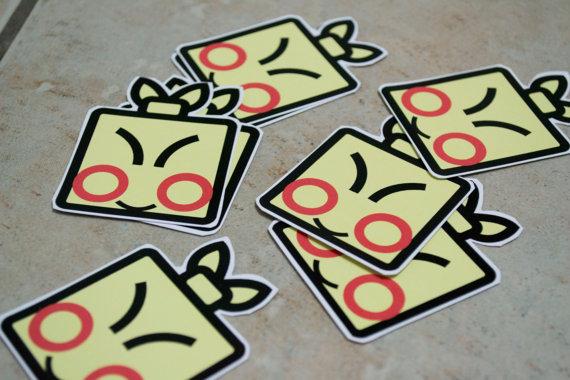 Makuhita Stickers by chkimbrough