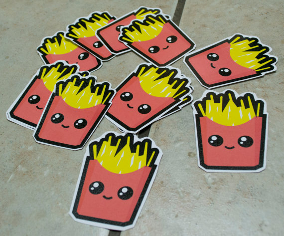 French Fries Stickers by chkimbrough