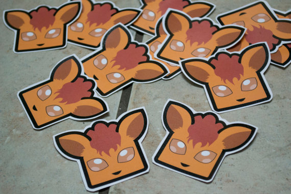Vulpix Stickers by chkimbrough
