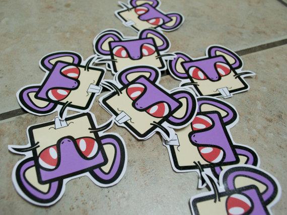 Rattata Stickers by chkimbrough
