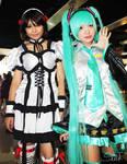 Cosplay: Haruhi and Miku
