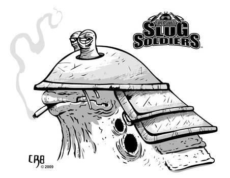 Slug Soldier grayscale