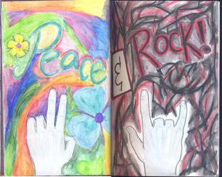 Peace and Rock by NowheregirlSu