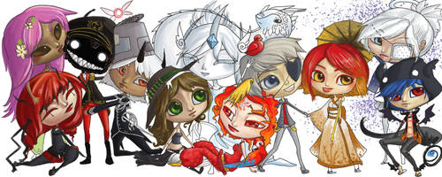 Chibi Group shot by CantoChi
