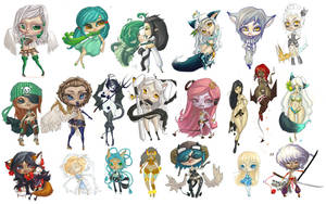 21 Chibis by CantoChi