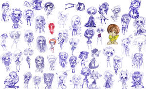 Masses and masses of chibis by CantoChi