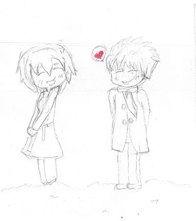 Little lovers in Winter by ebihal on deviantART