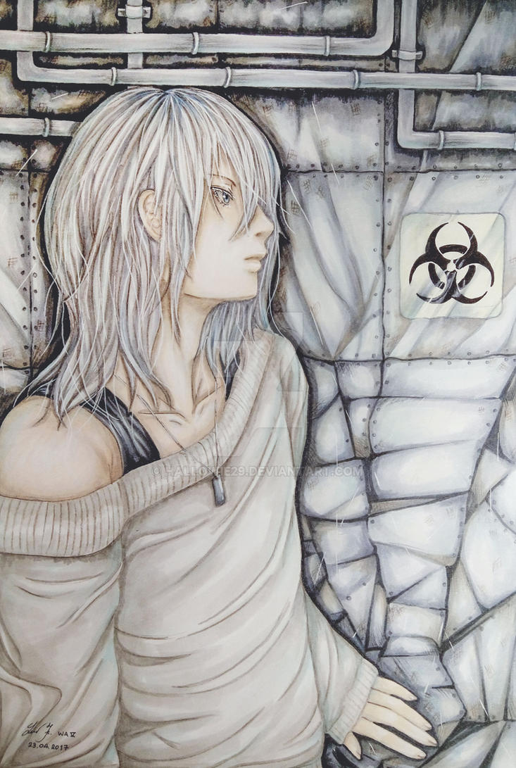The Silver Grey Haired Boy From Zone 0 by Hallowie29
