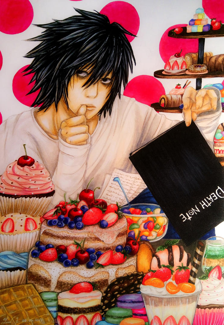 Death Note FA: Work or Dessert Time?? by Hallowie29