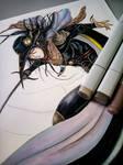 Process: Vampire Hunter D Fan Art - Dark Angel